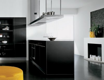 Como decorar una cocina de color blanco y negro - Cocinas en blanco y negro ...