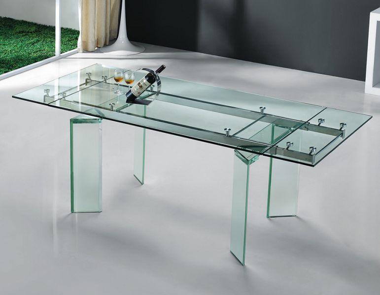 Mesas y mobiliarios de cristal for Muebles de cristal