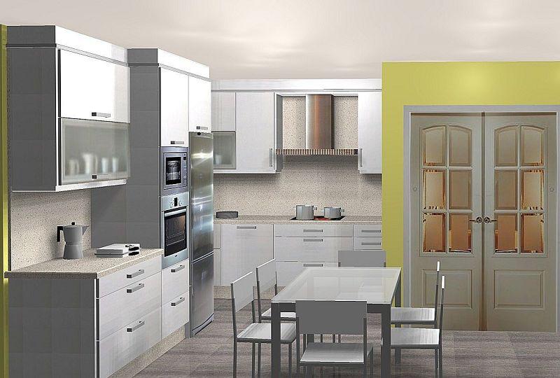 Dise o y decoracion de cocinas - Cocinas para pisos pequenos ...