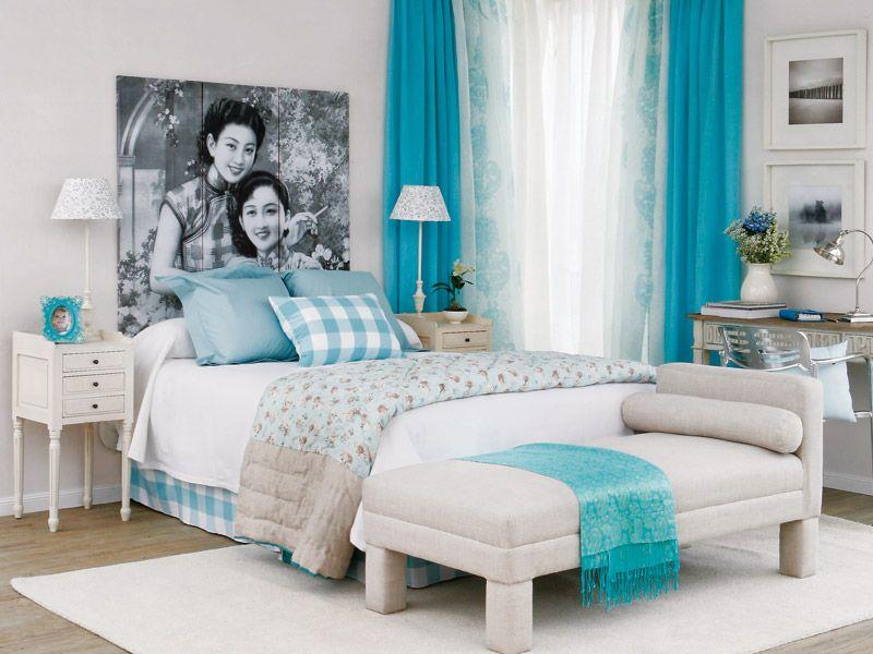 Habitaciones color turquesa