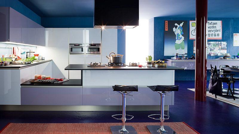 Como pintar una cocina de color celeste