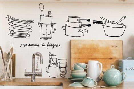 Ideas para renovar la cocina - Pared cocina pintada ...