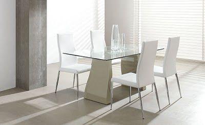Ventajas y desventajas de las mesas de cristal para comedor
