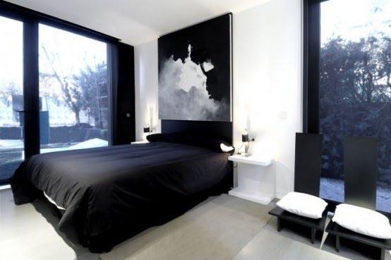 Decoraci n de dormitorio en blanco y negro - Dormitorios en color blanco ...