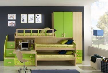 Como decorar dormitorio para tres personas for Literas originales para un cuarto juvenil
