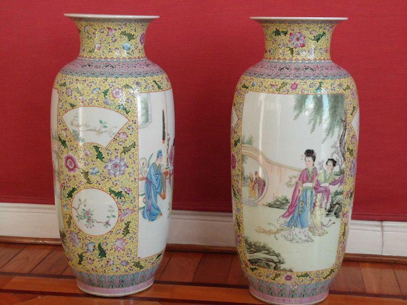 Decorar con jarrones chinos for Jarrones decorativos grandes