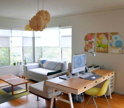Decorar mi oficina calida y acogedora - Decorar despacho pequeno ...