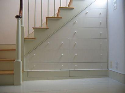 Escaleras con almacenamiento