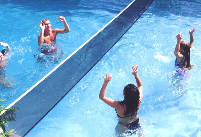 red de voleibol para piscinas
