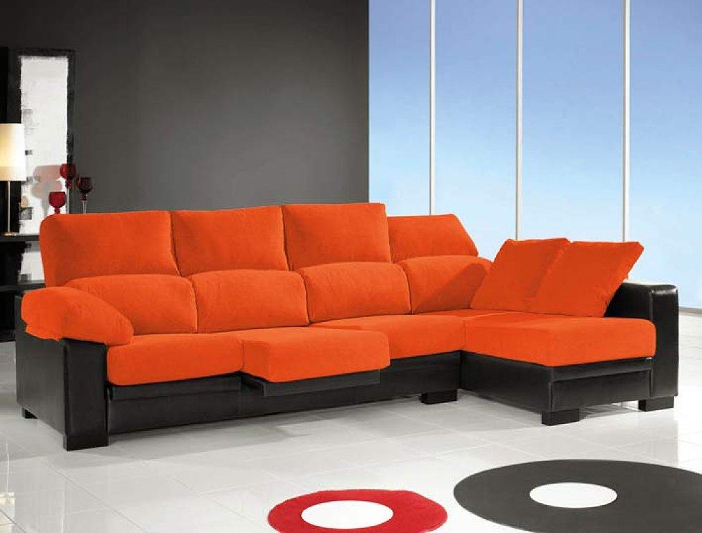 Decorar sala con sof naranja for Sofa gris como pintar las paredes