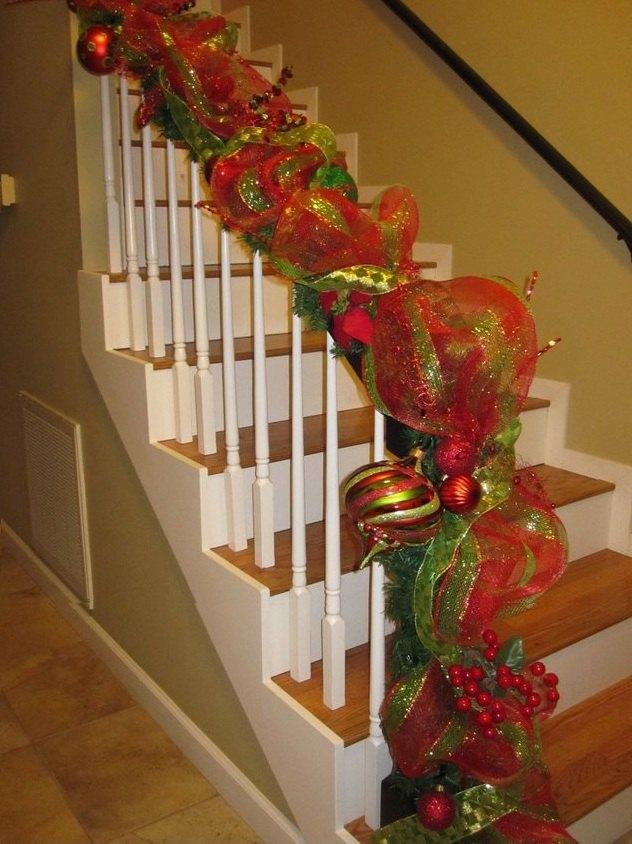 Decorar El Balcon En Navidad.Decoracion Navidena Con Cintas