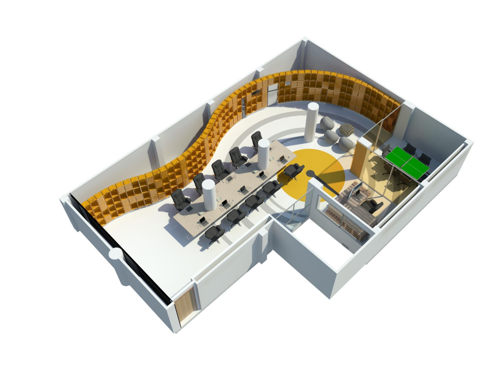 Oficinas de alt metro for Diseno de oficinas pequenas planos