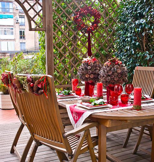 Como decorar un patio peque o en navidad - Como decorar un patio pequeno interior ...