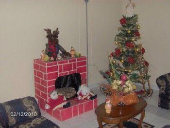 Crear una chimenea falsa para decorar en navidad - Chimeneas falsas decorativas ...