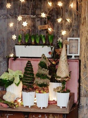 Decorar casas de campo en Navidad