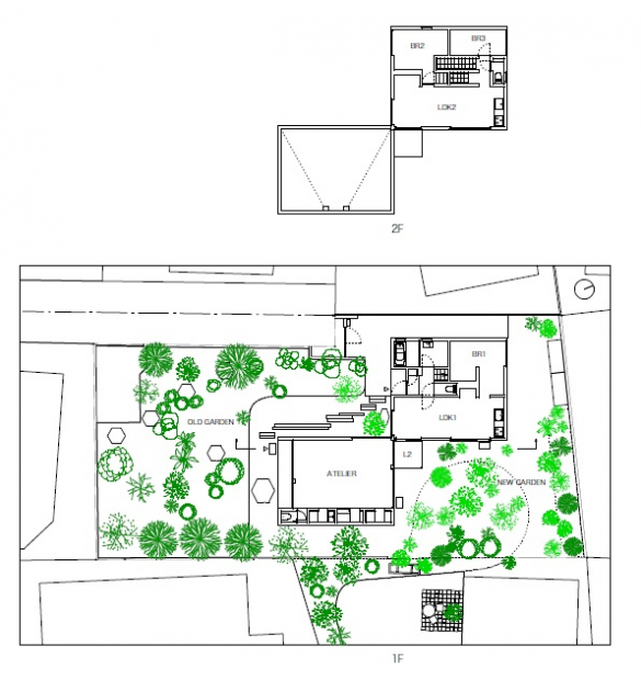 Casa Jardín plano