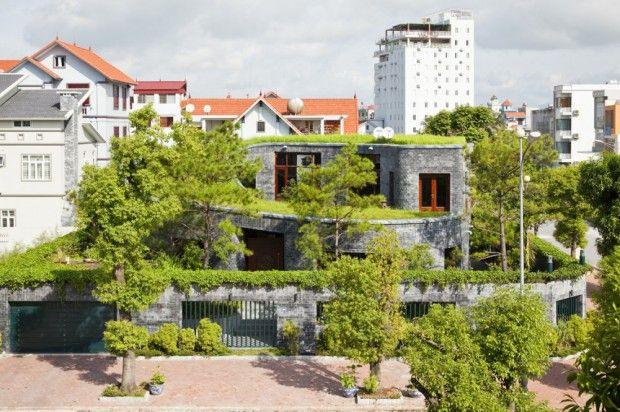 Casa de piedra sostenible