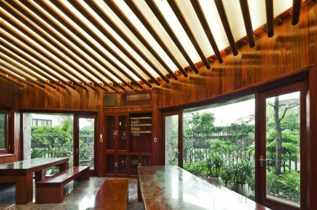 Casa de piedra sostenible interiores