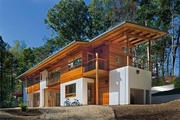 Cozy home casas modernas de madera for Planos de chalets modernos