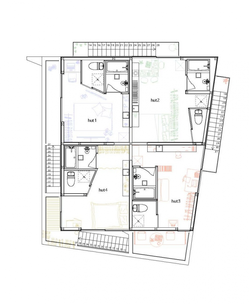 Yokohama departamentos modernos for Planos de apartamentos modernos