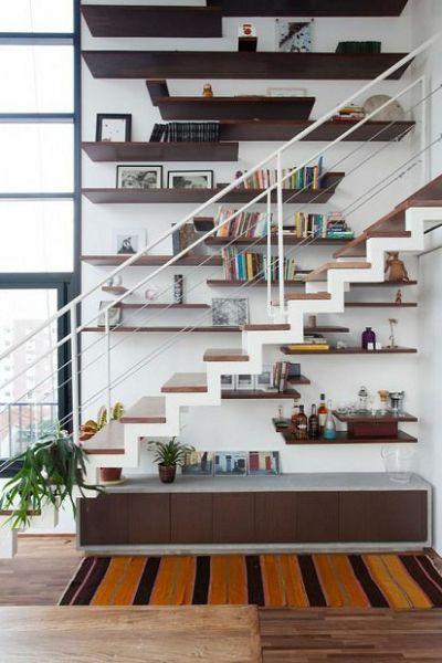 Estantes Y Escaleras Combinadas
