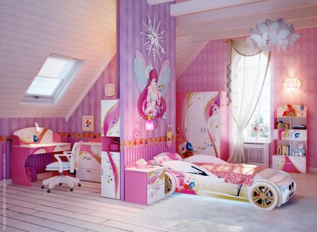 Habitaciones para niñas de color rosa