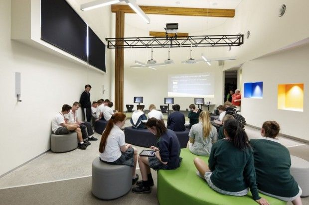 Moderno Centro de Estudio interiores