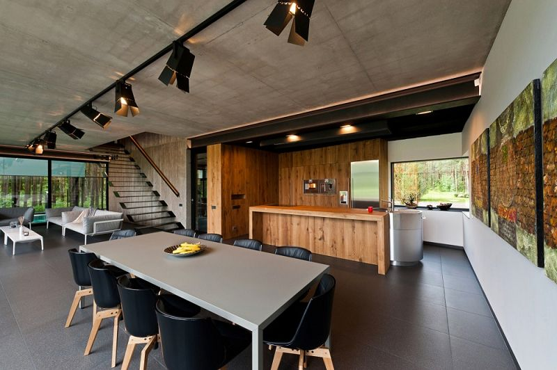 Viviendas modernas la casa entre los pinos Iluminacion exterior casas modernas