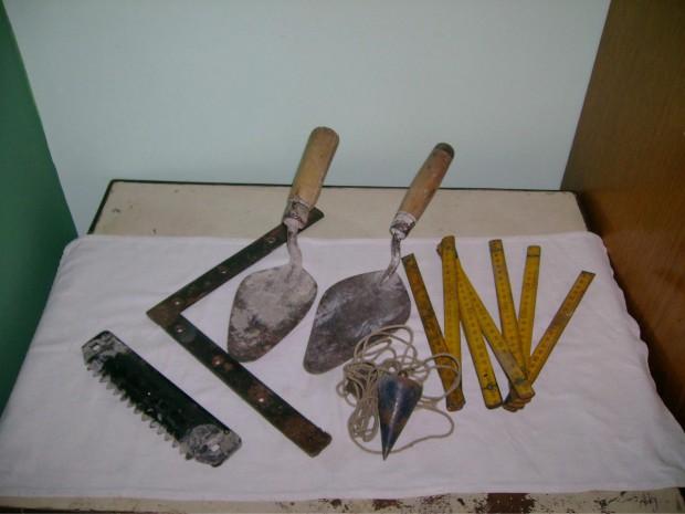 herramientas de albañilería