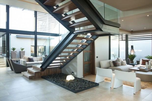 Casa Moderna en Sudáfrica interiores
