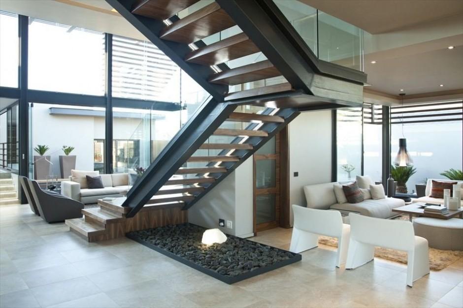 Abo house casa moderna en sud frica for Casa moderna flooring