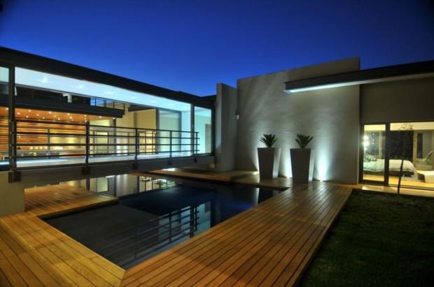 Casa Moderna en Sudáfrica piscina
