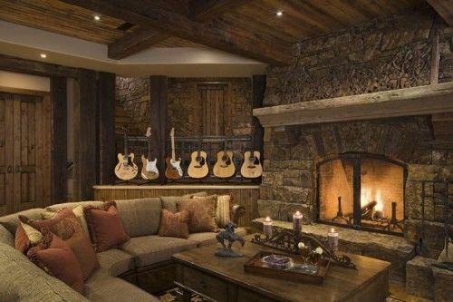 Decoracion rustica con guitarras
