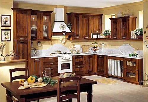 Decorando la cocina con estilo antiguo.