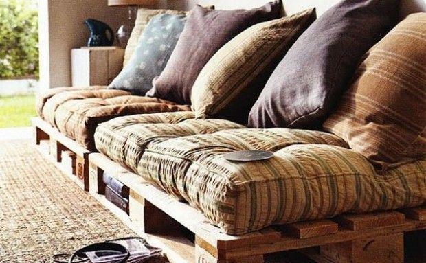El uso de palets reciclado en muebles.