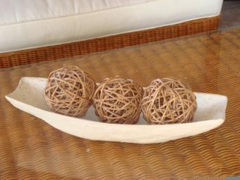 Esferas de mimbre para decoración rustica