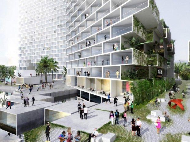 Futuro edificio fachada