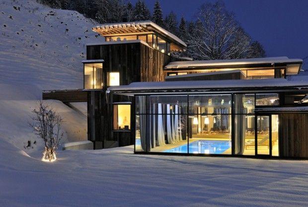 Lujoso hotel en Austria fachada