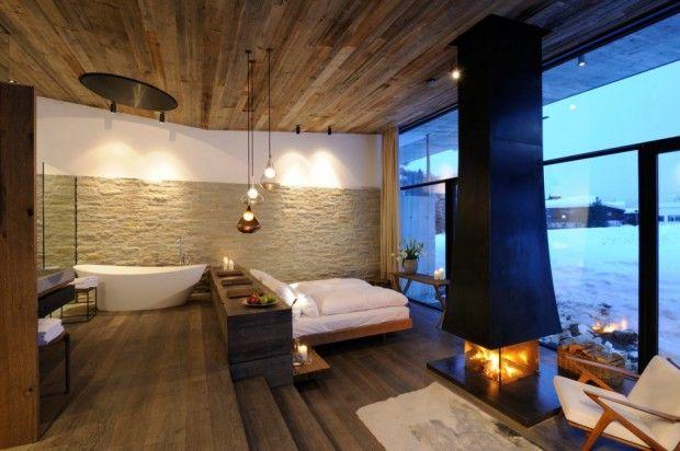 Lujoso hotel en Austria habitacion