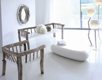 Materiales rústicos en decoraciones minimalistas