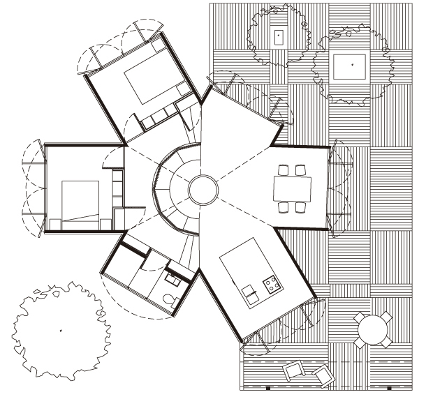Moderna Casa mexicana´plano