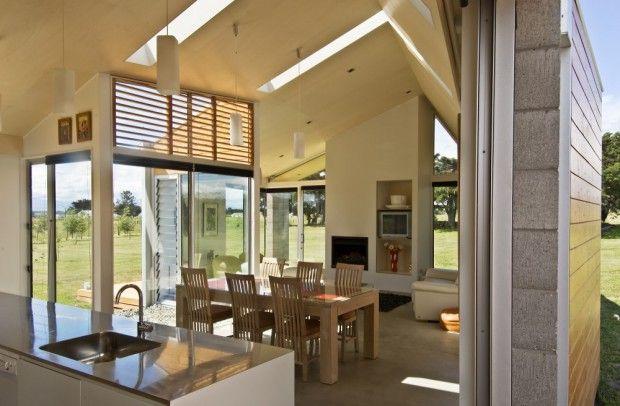 Modernas viviendas campestres interiores