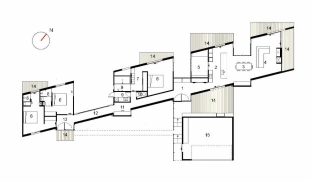 Modernas viviendas campestres plano