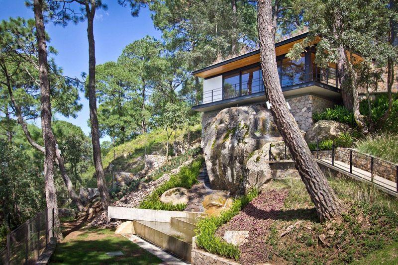 Casa Del Bosque Moderno Kiosko