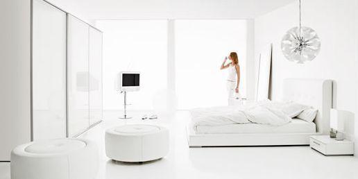 Muebles blancos en decoraciones minimalistas 1