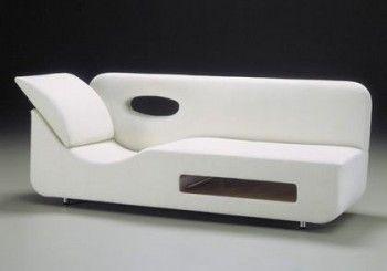 Muebles blancos en decoraciones minimalistas