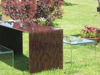 Muebles de cristal para exteriores modernos