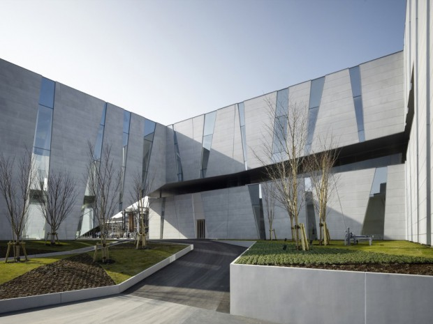 Nuevo edificio japonés fachada