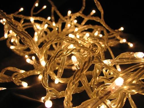 Utilización de las luces leds en navidad..
