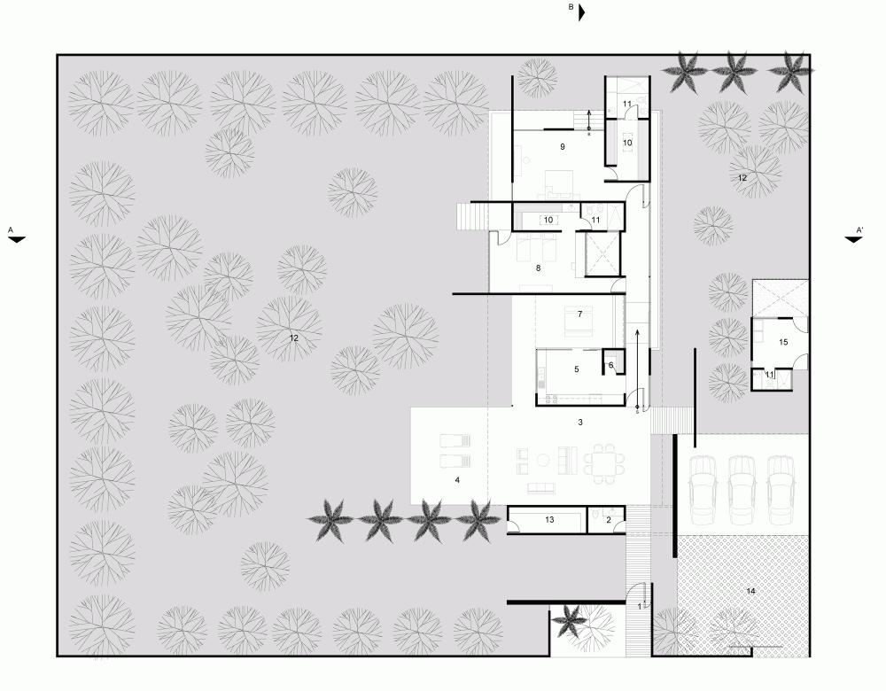 Casa es1 vivienda familiar mexicana for Arquitectura de casas modernas planos